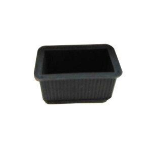 清水 エラストマーゴム脚 長角型24×45 黒
