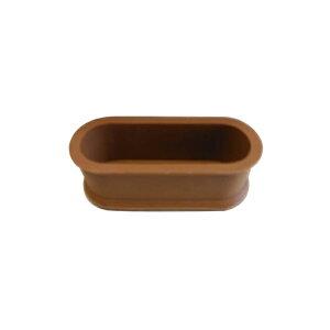 清水 エラストマーゴム脚 小判型22×66 茶