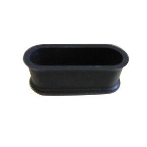 清水 エラストマーゴム脚 小判型22×66 黒