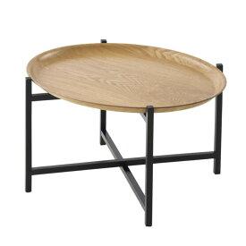 NEWTOPIA トレーテーブル オーバルウッド NTP2098