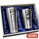 似顔絵 プレゼント サーモス thermos タンブラー グラス コップ ペア セット 名入れ 名前入り 【 サーモス 真空断熱タ…