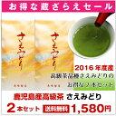 【メール便送料無料】《蔵ざらえセール》さえみどり100g×2本セットで1580円セール 鹿児島茶・深蒸し茶 おいしい日本茶 煎茶