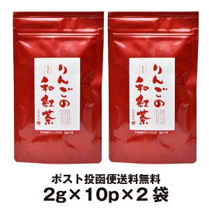お茶 ティーパック りんごの和紅茶 ティーバッグ 2g×10P×2袋 静岡県産の紅茶と青森県産の乾燥リンゴを使った甘い香りのお茶 シナモン・ドライマンゴー使用無香料アップルティー フレーバ