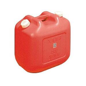【日本製 】 ポリタンク赤 ワイド 20L ノズル付 (オイル缶・灯油缶)