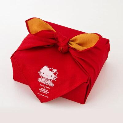 ハローキティ[スイーツお菓子]ギフトセット重箱風呂敷包み[クリスマスお菓子キャラクター母の日プレゼントかわいい誕生日キティちゃん大人子供幸せの黄色いカステラ長崎カステラ個包装おしゃれお祝い内祝いお土産バレンタイン]TK80