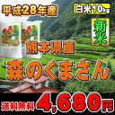 【平成28年度】熊本県産 森のくまさん【送料無料】【白米】【10kg(5kg×2)】【九州の米】02P03Dec16