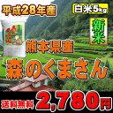 【平成28年度】熊本県産 森のくまさん【送料無料】【白米】【5kg】【九州の米】02P03Dec16