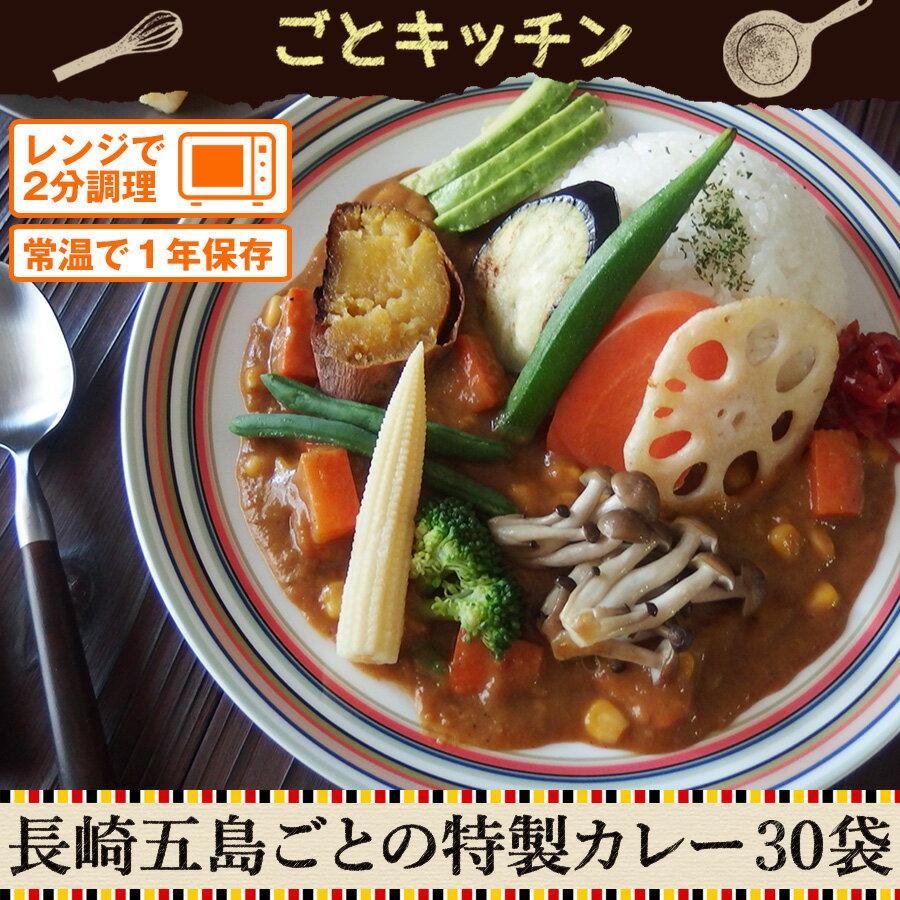 【訳あり】長崎五島ごとの特製カレー30袋