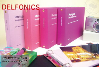 Wrapping free ☆ DELFONICS Binder type album PD photo album S size PD01