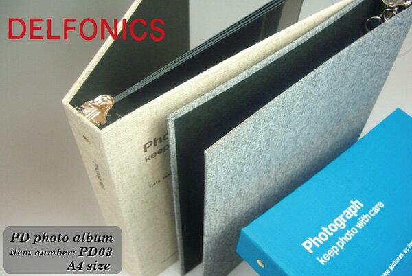 DELFONICS バインダータイプアルバム  PDフォトアルバム A4サイズ PD03