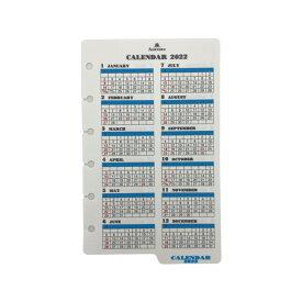 《年間》ASHFORD 2022年 システム手帳リフィル ミニ6穴 カレンダーリフター ホワイト 0026-022 アシュフォード/アッシュフォード 日付入り