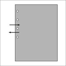 ASHFORD ミニ6穴サイズシステム手帳用リフィル スタンダードクリアポケット サイドE/L版写真サイズ