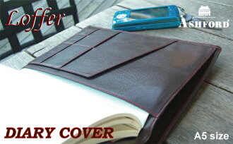 ASHFORD A5 size diary notebook cover Loffer (アシュフォード / loafer)
