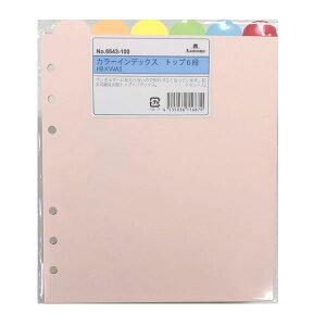 Ashford システム手帳リフィル HB×WA5サイズ カラーインデックス トップ6段 6643-100 アシュフォード