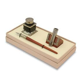 Bortoletti 木製ペン軸 つけペン ギフトセット No45 ガラスペン先 対応 ボルトレッティ/カリグラフィ/デスクトップセット/ボトルインク/ペンホルダー