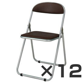ジョインテックス 折畳イス/スライド式 粉体塗装 ブラウン 12台セット FO-19M (折りたたみ椅子/折りたたみイス/折りたたみいす/おりたたみ いす/折りたたみチェア/折畳み 椅子/折りたたみパイプ椅子/通販)