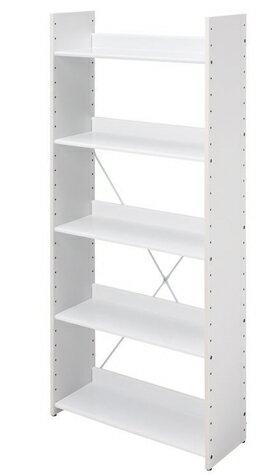 Garage at!デスク オープンラック 白/ホワイト AT-R8016 (ガラージ/ガラーヂ/ガレージ/オフィス家具/SOHO/ソーホー/事務所/おしゃれ/シンプル/幅80cm/木製/スチール/棚/ホワイト)