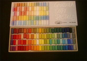 GONDOLA soft pastel 100 color set ( gondola and art supplies)