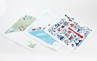 Pus giraffe towel handkerchief uk33 (UMIKIRIN/ handkerchief / Imabari product)