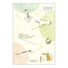 【20%OFF】《月間》MIDORI (ミドリ) 2020年 手帳 ポケットダイアリー<ミニ> ネコ柄 27778006