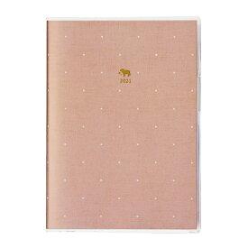 2021年 手帳 クツワ カラーインデックス手帳 B6 スクエアドット・ピンク 004SHA スケジュール帳 ダイアリー かわいい