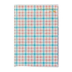 2021年 手帳 クツワ 家族手帳 B6薄型(月曜始まり) おでかけチェック 015SHB スケジュール帳 ダイアリー かわいい