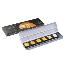 FINETEC/ファインテック パールセントカラー F0601 パールカラー シルバーゴールド 6色セット 水彩絵具/水溶性絵の具