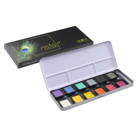 FINETEC/ファインテック パールセントカラー F1200 パールカラー 12色セット 水彩絵具/水溶性絵の具