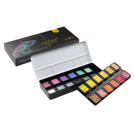 FINETEC/ファインテック パールセントカラー F2400 パールカラー 22色+ Flip-Flopカラー 2色セット 水彩絵具/水溶性絵の具