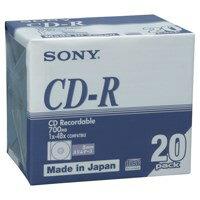 【エントリーで全品ポイント10倍】SONY CD-R 700MB 20CDQ80DNA 20枚 (CD-R/記録用メディア CD-R /記録用CDR)