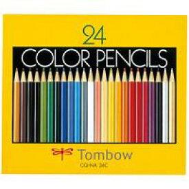 トンボ鉛筆 色鉛筆 CQ-NA24C 24色 紙箱入 (色鉛筆/筆記具 色鉛筆 13色〜24色セット/色鉛筆)