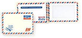 MIDORI BRANIFF ブラニフ スパイラルリングノート B6サイズ 窓付封筒タイプ (ミドリ/デザインフィル)