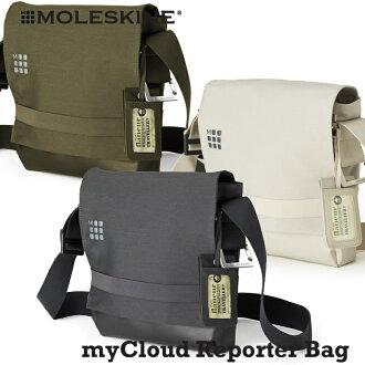 MOLESKINE Moleskine myCloud 袋系列記者袋痛苦灰色 / 柯克短衣,一副記者皮包 / 肩袋 / lesportsac (傾斜袋)