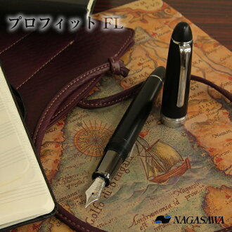 Writing is for NAGASAWA original fountain pen profit FL mat black silver parts for a long time