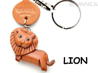 VANCA CRAFT狮子书皮革钥匙圈任何地方示威动物