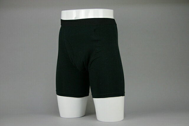 【安心の日本製】 『吸水部分同色・中度対応 』ボクサー型失禁パンツ ブラック 3枚組 【送料無料】