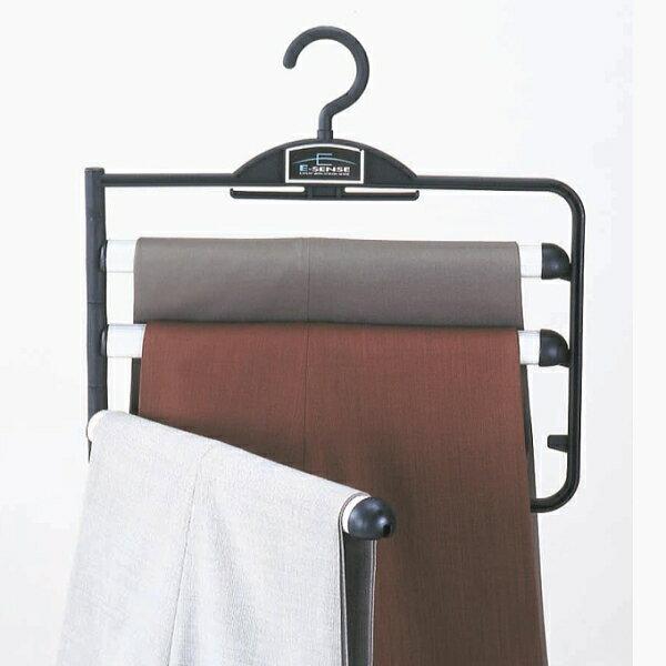 ハンガー ズボン用 極太バー スラックスハンガーEX3段 ブラック HANGER c7lnh