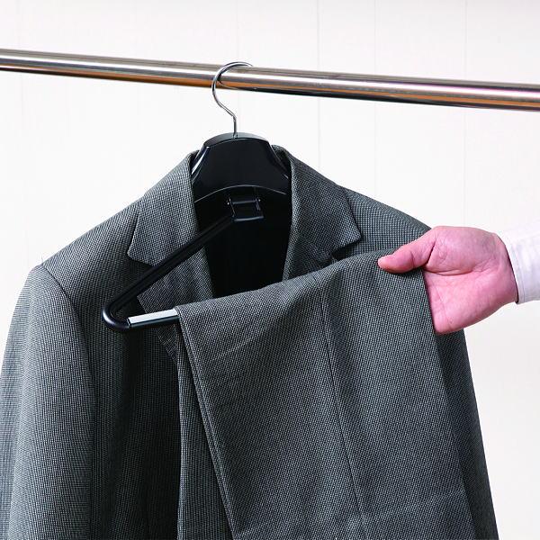 ハンガー スーツ ジャケット プラスチック セット エルパソストップハンガー ブラック 4本セット スーツ 型崩れ HANGER hfjdl