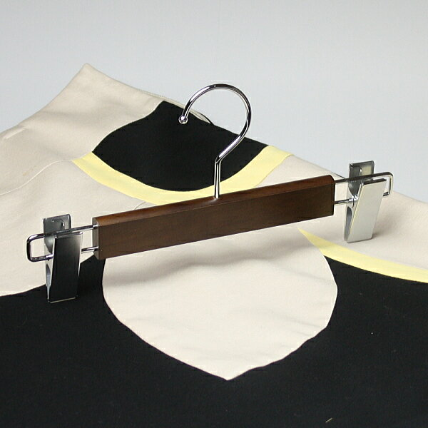 ハンガー ズボン用 木製ハンガー パンツ スカート ボトム NS70-06 パンツ スカートハンガー ブラウン HANGER 名入れ可 c7lnh