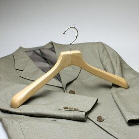 ハンガー 木製 ジャケット メンズ BS-15 木製ハンガー バーなし クリア 42cm HANGER 名入れ可