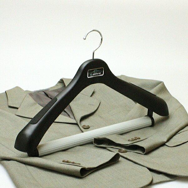 ハンガー スーツ ジャケット プラスチック セット エキスパート極太ハンガー47cm ブラック 5本セット hfjdl