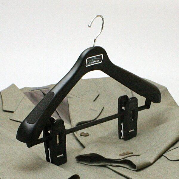 ハンガー スーツ メンズ レディース クリップ プラスチック セット エキスパート43 ジャンボクリップハンガー ブラック 5本セット HANGER hfjdl