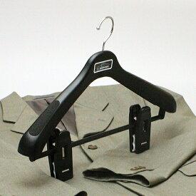 ハンガー スーツ メンズ レディース クリップ プラスチック セット エキスパート43 ジャンボクリップハンガー ブラック 5本セット HANGER hfjdl 女性 婦人