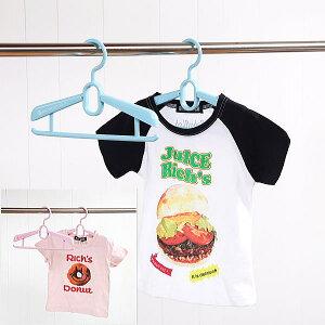 キッズハンガー 子供用 衣類ハンガー シャツ用ハンガー プラスチックハンガー 収納 洗濯ハンガー ジュニアスライドハンガー
