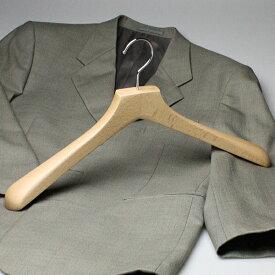 ハンガー 木製 ジャケット メンズ BS-16 木製ハンガー バーなし クリア 45cm HANGER 名入れ可