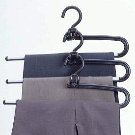 ハンガー ズボン用 スラックス セット プラスチック S&Fリレースラックスハンガー 2本セット ブラック HANGER c7lnh