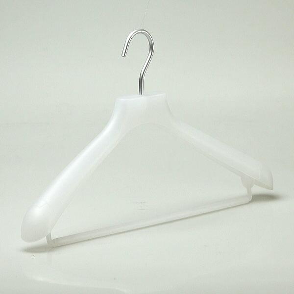 訳あり 廃番のため在庫処分 ハンガー スーツ ジャケット プラスチック 収納 白スーツハンガー バー付 1本 45cm