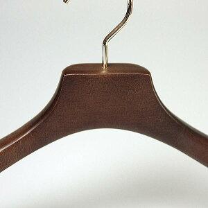 ハンガー木製ながしおスーツ35cm/37cm/40cm/43cmすべらないバー付きHNO木製オリジナルハンガーブラウンHANGER名入れ可M%dx2