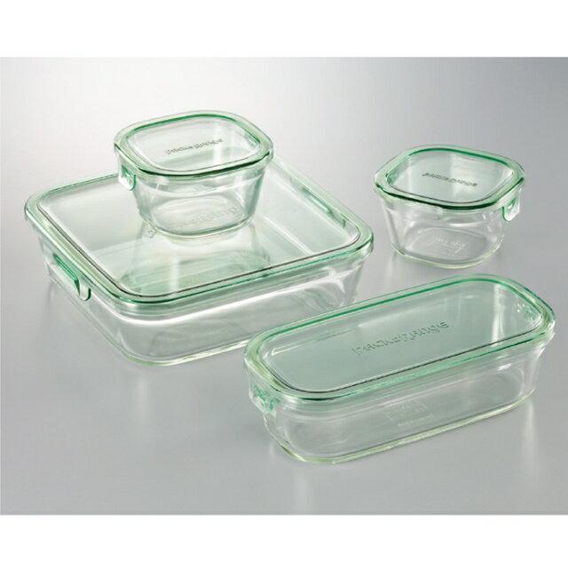 【iwaki】パック&レンジシステムセットミニ(耐熱ガラス) PSC-PRN4G2