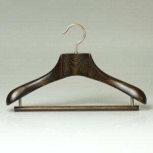 木製ハンガースーツメンズ高級コート型崩れ【最高級木製ハンガー】プレジデントハンガーNEOW40cmブラウンHANGER